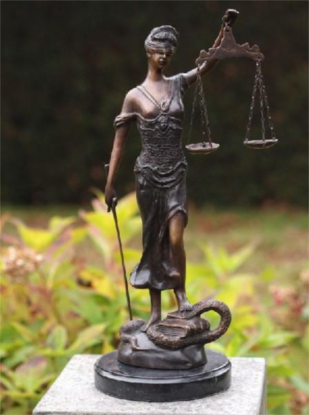 Justitia kleine Bronzefigur 45cm