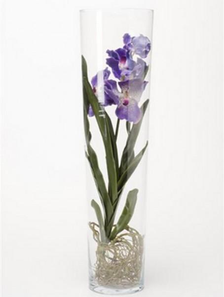 Vanda blau 70 cm | Orchideen Kunstpflanze im Glas