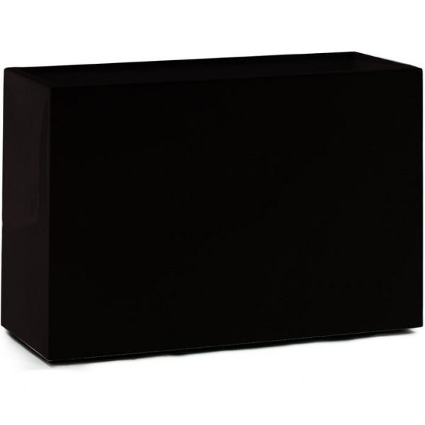 Premium Block Raumteiler - Pflanzkübel schwarz 60 cm