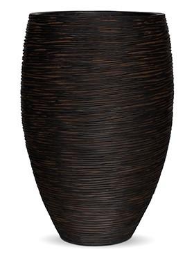 Pflanzvase Riffel Elegance | Capi Nature Otello braun