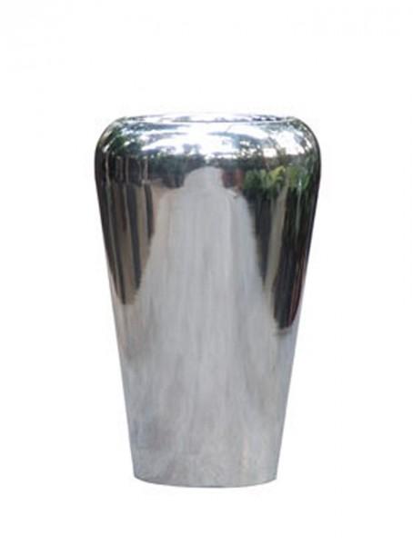 Conica-Facet-Planzvase-Aluminium-Poliert