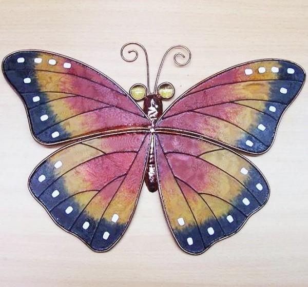 Grosser-Wand-Schmetterling-Tiffany-Glas