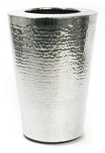 Elegant - Aluminium Pflanzkübel gehämmert