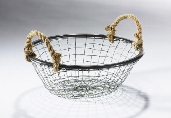 Hogerd-Drahtkorb-rund-hoch-aus-Metalldraht-mit-Seilgriffen