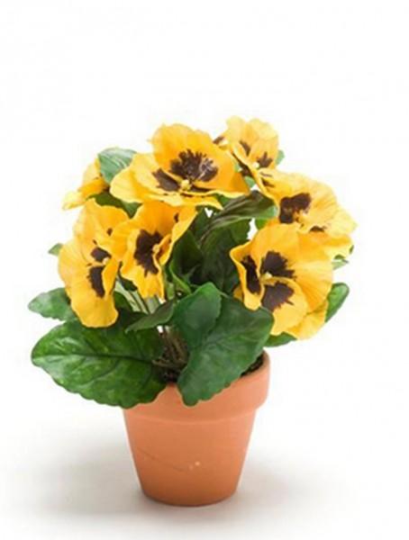 Kalanchoe gelb 18 cm | Kunstpflanze im Topf