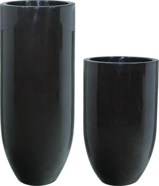 Pandora onyx black / Pflanzvase schwaz lackiert