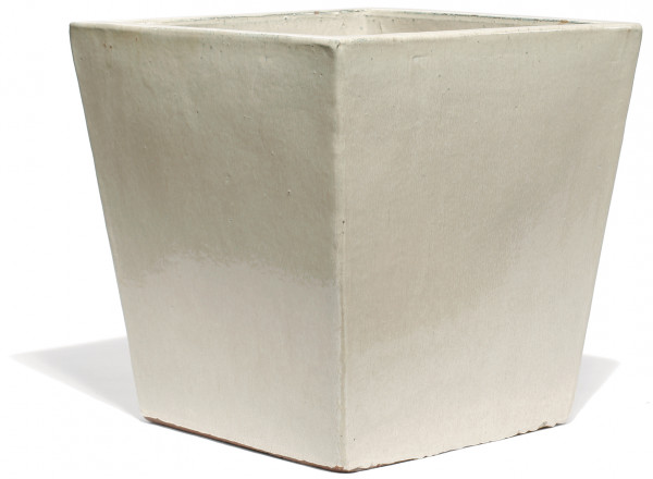 Vaso Quadro | Creme Keramikkübel