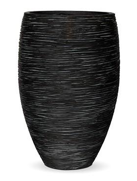 Pflanzvase Riffel Elegance | Capi Nature Otello schwarz
