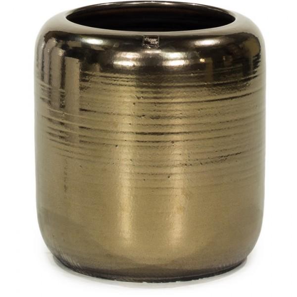 Keramikkübel Glaze Gold 53 cm