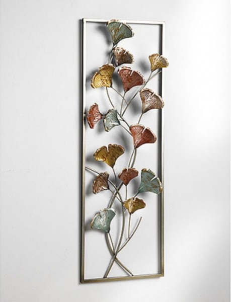 Wandbild bunte Blumen | Metall Wanddekoration