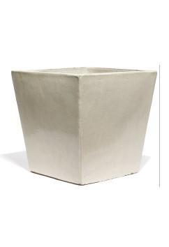 Vaso Quadro Creme - Keramikkübel