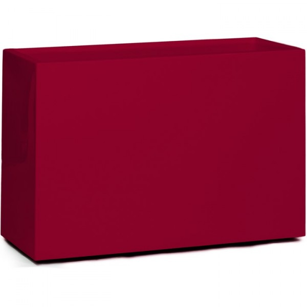 Premium Block Raumteiler - Pflanzkübel rubinrot 60 cm