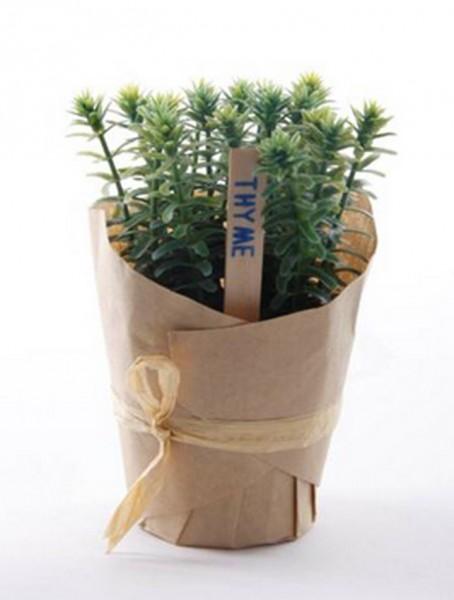 Thymian 12 cm | künstliche Gewürzpflanze im Papiertopf