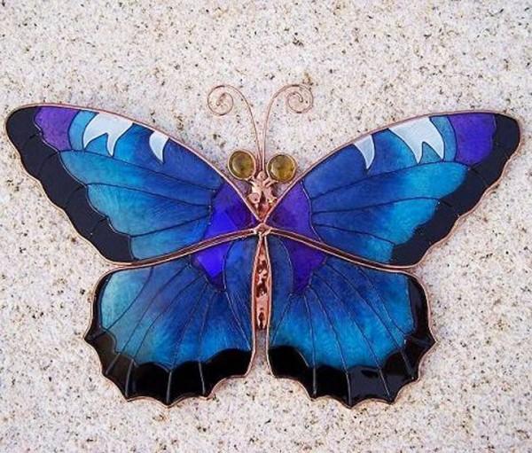Patchou Wand-Schmetterling | Tiffany Glas