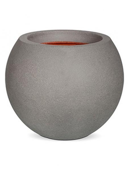 Sphere-Pflankugel-bruchfester-Hellgrau-Kunststoff-Pflanzkuebel-Capi-Touch