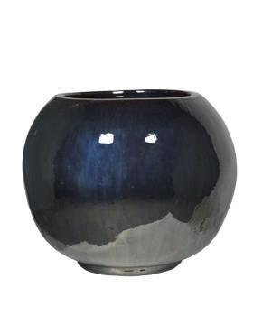 Globe Pflanzgefäß | Metallglanz Keramik