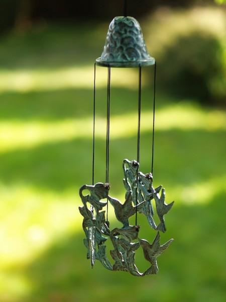 Windspiel aus Bronze | Kolibri